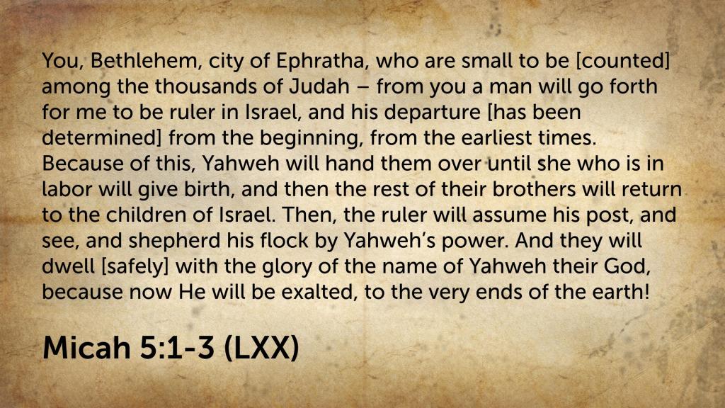 Micah 5(1-3)